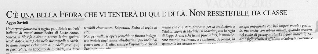 Critica-Savioli-26-07-'03